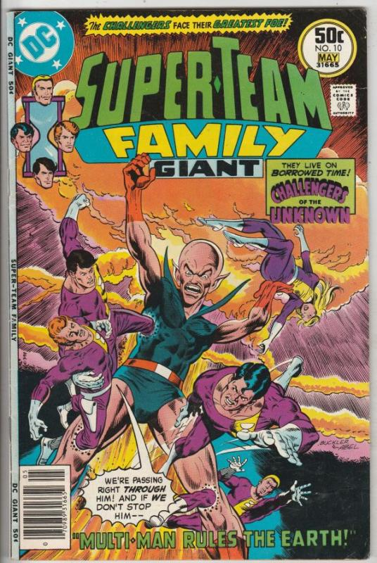 Super-Team Family #10 (May-77) VF/NM High-Grade Challengers of The Unknown, D...