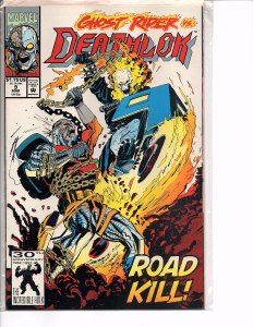 Marvel Comics Deathlok #9 Ghost Rider NM Denys Cowan