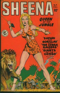 Sheena, Queen of the Jungle #4 1948 Fiction House, Golden Age Catfights, Pin-Up