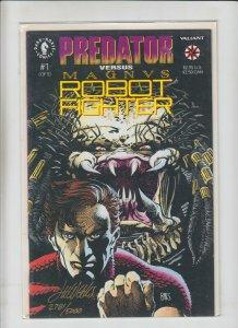 Predator vs Magnus Robot Fighter #1 VF/NM signed by lee weeks (2781/5000)