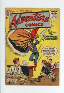 ADVENTURE COMICS #215 GD - SCARCE 1955 DC - AQUAMAN, GREEN ARROW, SUPERBOY