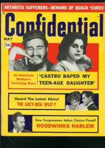 CONFIDENTIAL MAGAZINE-MAY 1960-CASTRO-DESI SPANKS LUCY! FN