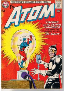 ATOM #8, VG, Dr Light Appearance, Justice League, Gil Kane, Silver age