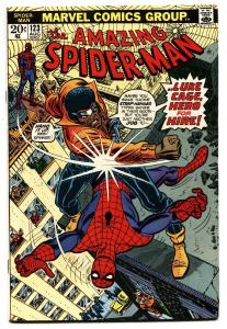 AMAZING SPIDER-MAN #123 comic book-MARVEL COMICS-Luke Cage cover