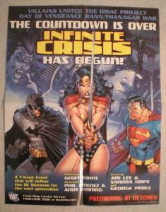 INFINITE CRISIS HAS BEGUN Promo Poster, 17x22, Unused, more Promos in store
