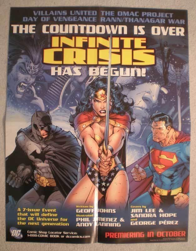 INFINITE CRISIS HAS BEGUN Promo Poster, 17x22, Unused, more Promos in store