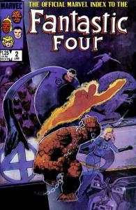 Official Marvel Index to the Fantastic Four #2, NM- (Stock photo)