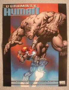ULTIMATE HUMAN Promo Poster, IRON MAN vs HULK, Unused, more in our store