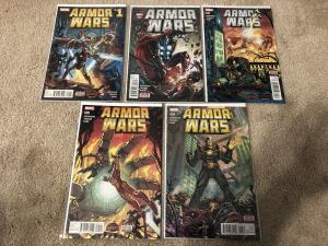Marvel Armor Wars 1-5 Full Run (2015)
