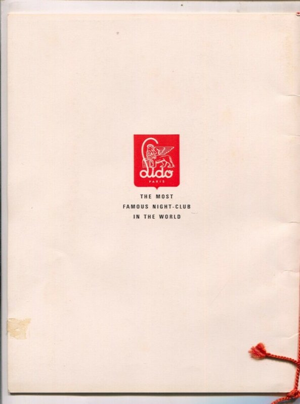 Lido-Paris Night Club Program Book 1950's-The Most Famous Night Club In The ...