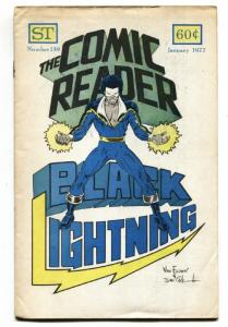 The Comic Reader Fanzine #139 1976- First appearance of BLACK LIGHTNING!