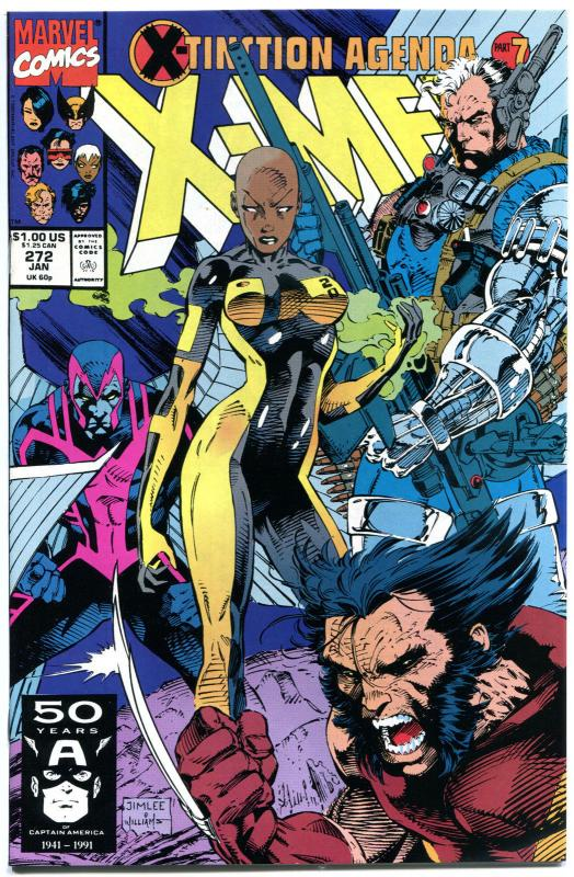 X-MEN #272, NM+, Wolverine, Chris Claremont, 1991,Jim Lee, more XM in store