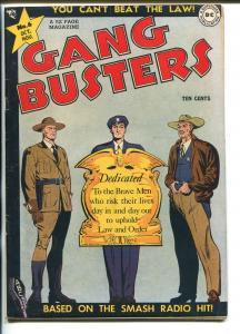 GANG BUSTERS #6 1948-DC-CRIME-SMASH RADIO HIT-vf minus