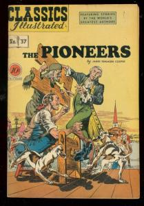 CLASSICS ILLUSTRATED #37 HRN 37-PIONEERS-TORTURE COVER- FN