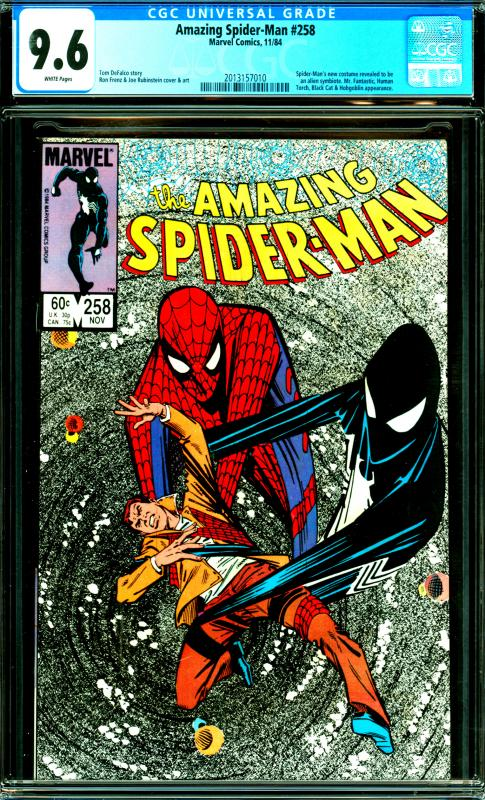 Amazing Spider-Man #258 CGC Graded 9.6 Spider-Man's new Costume revealed