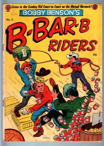 BOBBY BENSON'S B-BAR-B RIDERS #2-1950-WESTERN-COMIC-GOLDEN AGE G/VG