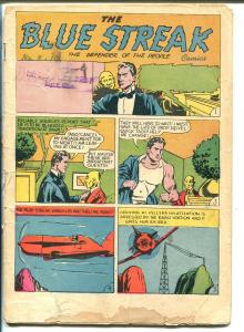 Blue Streak #8 1945-Holyoke-Strongman-Crash Comics-Robert Turner text story-G+