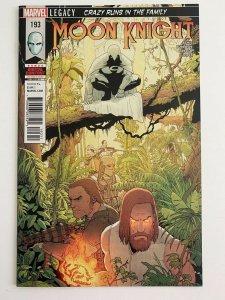 Moon Knight #193 (Marvel Comics 2018) NM