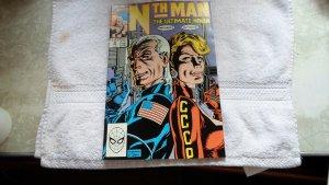 1990 MARVEL COMICS NTH MAN THE ULTIMATE NINJA # 9