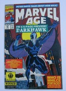 Marvel Age #97 VF+ Key Issue 1st Appearance Darkwhawk Marvel Comics 1991