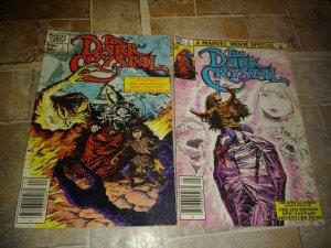 the dark crystal comic # 1 +2 , 1983 marvel +jim henson movie adaption