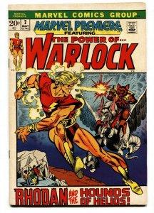 MARVEL PERMIERE #2 WARLOCK-YELLOW CLAW KIRBY KANE VF