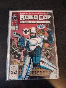 RoboCop #1 (1990) 1st Series Marvel Comics Alex Murphy Omni Detroit Movie