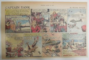 Captain Yank Sunday by Frank Tinsley from 4/11/1943 Size: 11 x 15 inches