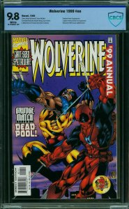 Wolverine 1999 Annual #NN CBCS 9.8 not CGC Versus DEADPOOL ---- MODERN KEY ISSUE