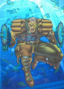 X-Men Series 2 Holithogram H-1 CABLE Skybox 1993 Hologram Trading Chase  (LotH9)