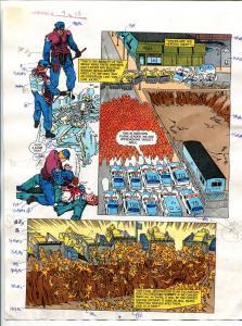 Elementals #9 Page #15 Original Color Guide Ken Feduniewicz