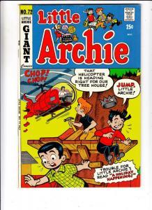 Little Archie #72 (Jul-72) FN/VF+ Mid-High-Grade Little Archie, Little Veroni...