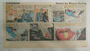 Superman Sunday Page #1156 by Wayne Boring from 12/10/1961 Size ~7.5 x 15 inches