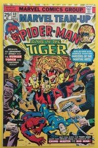 MARVEL TEAM-UP 40 SPIDER-MAN SONS OF THE TIGER 1975