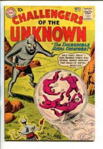 CHALLENGERS OF THE UNKNOWN #16-1960-METAL CREATURE ISSUE-vg