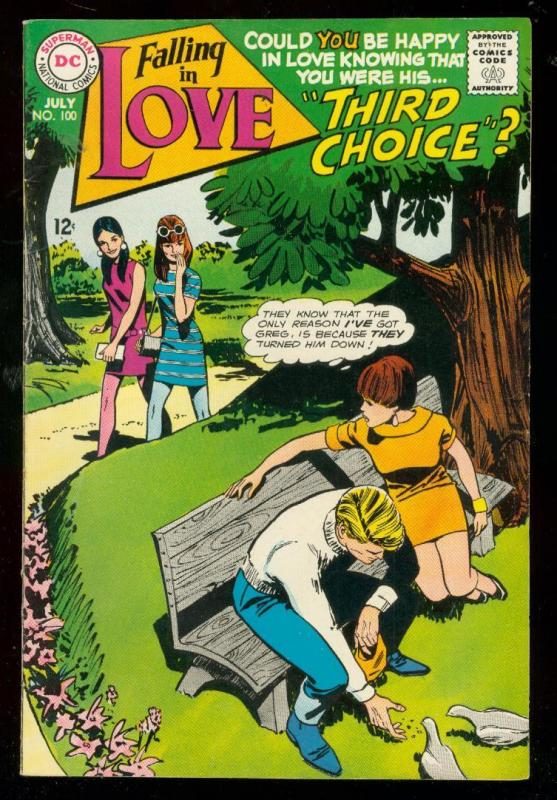 FALLING IN LOVE #100 1968-DC ROMANCE COMIC-FASHION PAGE VF