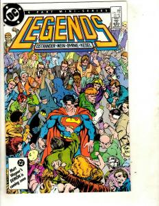 Lot of 9 DC Comics Legends 2 4 5 6 Legion of Super-heroes 3 37 38 42 43 JF10
