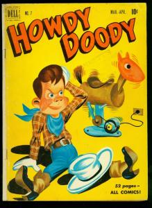 Howdy Doody #7 1951- Dell Comics- funny book puppet TV- VG-