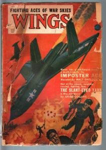 WINGS SPRING 1951 RARE PULP VIOLENT ANTI-COMMIE COVER! FR