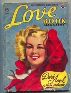 Love Book Magazine Pulp September 1947- Dark Angel VG