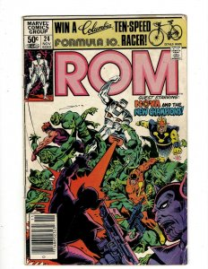 Lot of 14 ROM Marvel Comic Books #24 26 28 31 34 35 36 37 38 39 42 43 44 45 SB4