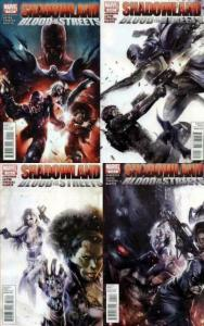 SHADOWLAND BLOOD IN THE STREETS (2010) 1-4 Silver Sable