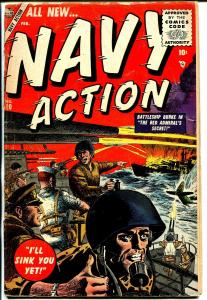 Navy Action #10 1955 Atlas-Battleship Burke-Syd Shores-commies-Colan-G