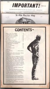 Infinity & Rocket's Blast Fanzine Coverless Bargain Lot of 3-1960's-P