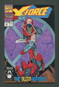 X-Force #2  (2nd Deadpool) / 9.0 VFN/NM  / September 1991