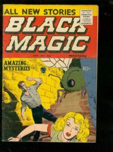 BLACK MAGIC V.6 #4 1958-TERROR-HORROR-ATOMIC BOMB PANEL VF