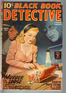 BLACK BOOK DETECTIVE 1945 SUM-BLACK BAT-PULP-HERO PULP-RARE VG+