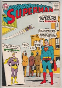 Superman #163 (Aug-63) FN/VF Mid-High-Grade Superman, Jimmy Olsen,Lois Lane, ...