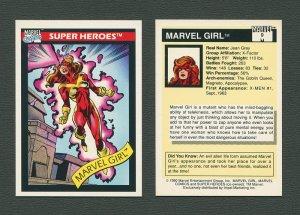 1990 Marvel Comics Card  #9 (Marvel Girl) / MINT