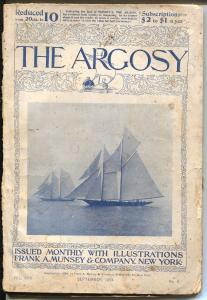 Argosy 9/1994-early illustrated cover-120+ years old-classic-historic-G